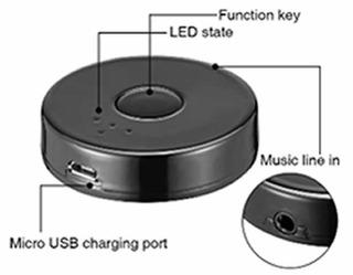 Emisor Bluetooth Para Audio Sm 3036 Cable Usb Av