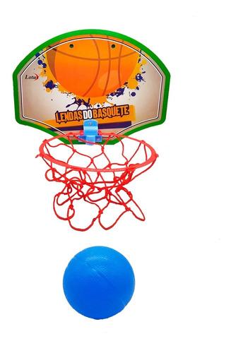 Jogo De Basquete Brinquedo Mini Tabela Lendas Com Bola