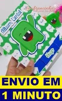 Projeto Caixa Molde Álbum Dental + Frete Grátis