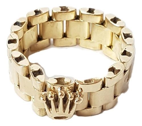 Imagen 1 de 4 de Anillo Rolex Oro 18k/750 8,9grs N°17 Brumat