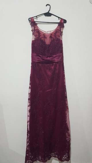 Vestido De Fiesta, Espalda Elastizada Y 1.60cm De Largo