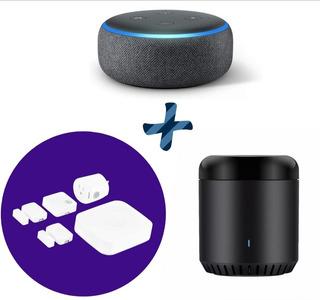 Combo Alexa Echo Dot + Kit Samsung Smartthings + Infrarrojo