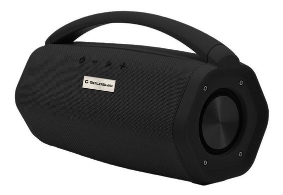 Caixa De Som Aqua Boom Speaker Ipx7 Goldship Preta