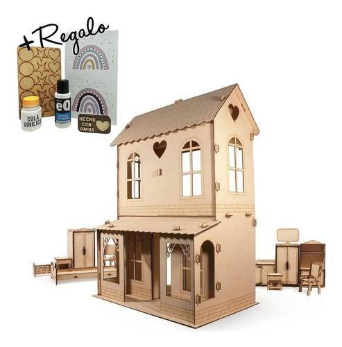 Casa De Muñecas + 30 Muebles Casita M1 - Envio Gratis !