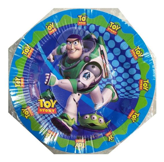 Toy Story Buzz Ligthyear Paq 10 Platos Pasteleros Disney Fie