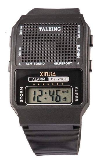 Relógio Digital Fala Hora /para Deficientes Visuais E Idosos