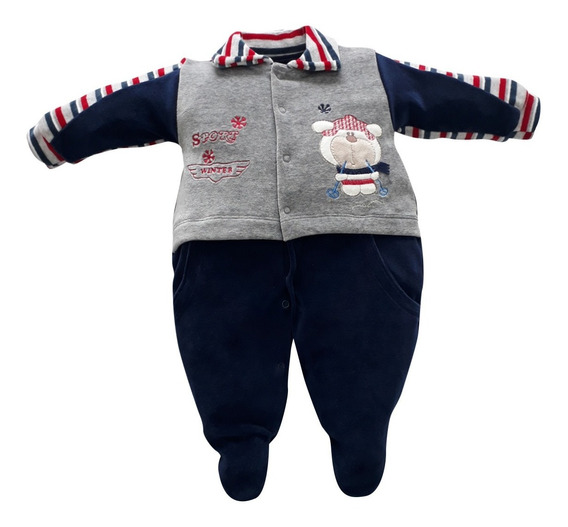 Macacão De Bebê Plush Sport Winter Maxibaby