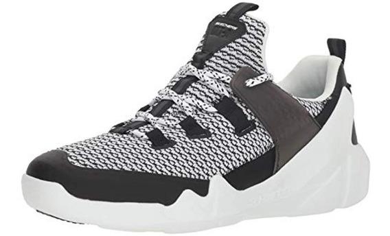 Tenis Para Caballero Skechers Dlt-a 7.5 Usa Blanco Y Negro