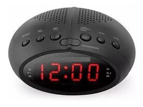 Rádio Relógio Digital Fm Alarme Temporizador 110 - 220v
