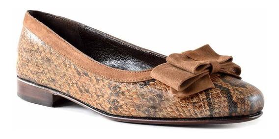 Zapato Chatita Mujer Cuero Briganti Mocasin Negro Mccha2855