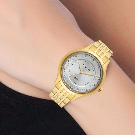 Relógio Orient Feminino Dourado Original Fgss0114 G1rx