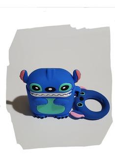 Funda Para Airpots Lilo Y Stitch Azul Marino