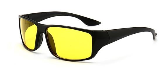 Oculos Para Dirigir À Noite Lentes Amarelas Uv400 Com Nota