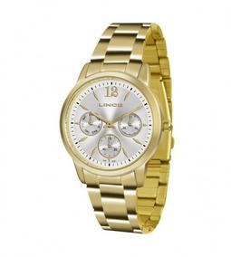 Relógio Lince Lmgj069l S2kx Multifunção Dourado Original