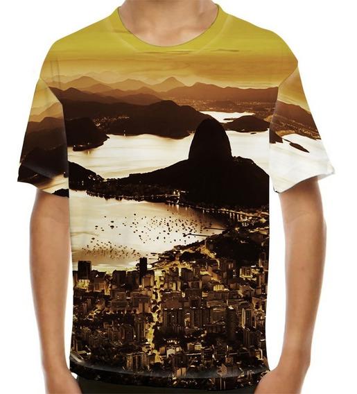 Camiseta Rio De Janeiro Pão De Açúcar Infantil