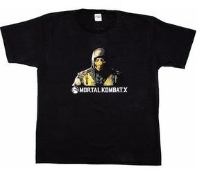 Camiseta Mortal Kombat X Preta Tam G Novo