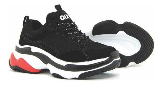 Tênis Tênis Sneaker Qix Higher - Preto/vermelho