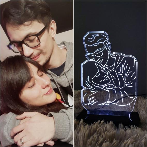 Luminária Personalizada Com Sua Foto