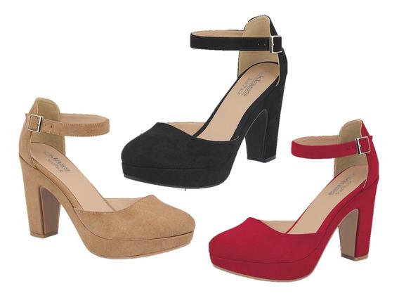 Zapatos Cklass 3 X 2 Rojo Negro Y Camel (incluye 3 Pares) Otoño Invierno 2019 958-18