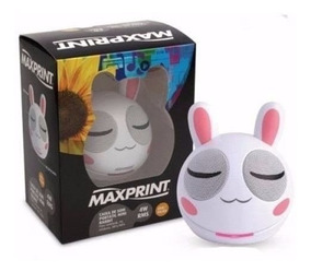 Caixa De Som Mini Rabbit 4w Rms Usb Portatil - Maxprint 6073