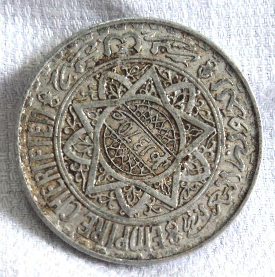 Antigua Moneda Marruecos 5 Francos 1951 Aluminio