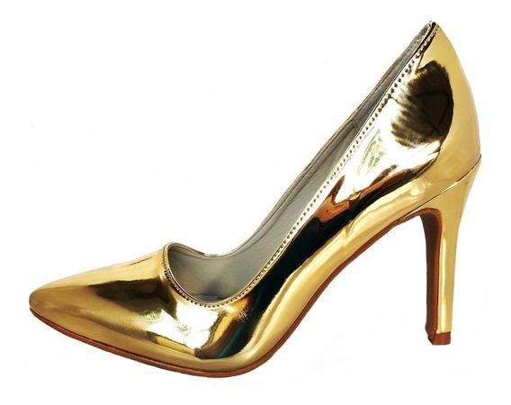 Scarpin Sofist Mirror Dourado