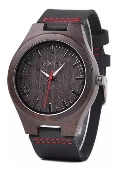Relógio Masculino Madeira Bobo Bird