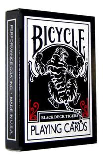 Mazo Naipes Bicycle Black Tiger - Magia Poker Coleccion