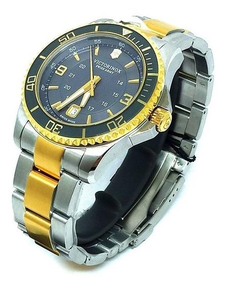Relógio Vixtorinox Maverick Large Prata/dourado 249126
