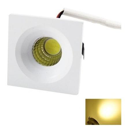 Spot Led 3w Embutir 45x45 Moveis Mdf Branco Quente 10 Peças