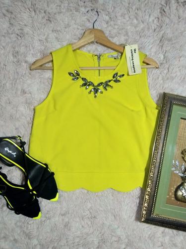 Blusa  Neon  Talla   S   Zapatos  Negro Y Neon Talla 7 Y 8