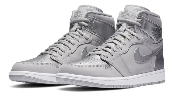 Tênis Nike Air Jordan 1 High Og Japan Metallic Silver
