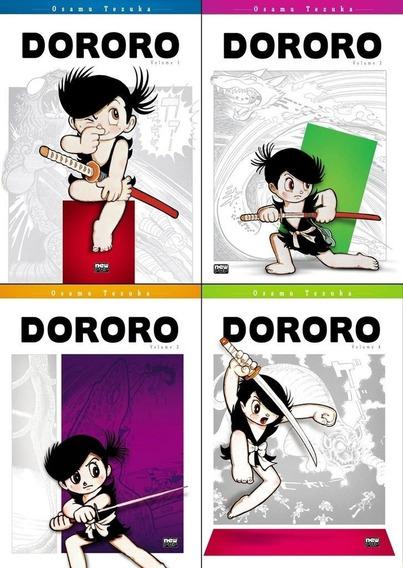 Revista Manga Dororo Kit Com Os 4 Volumes Novo