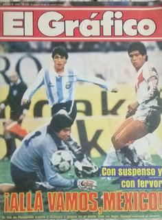 El Grafico 3430.eliminatorias Mexico 86 Argentina 2 Peru 2