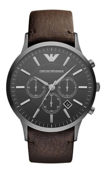 Relógio Emporio Armani Ar2462 Couro Marrom C/nf