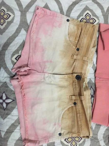 Short De Jeans Con Espandex