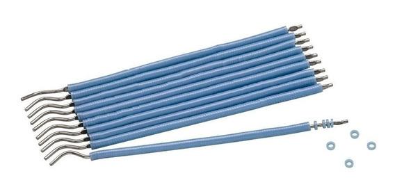 1 Mil Borrachinhas Azul Perola + 1 Aplicador De Aço