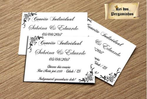 Imagem 1 de 6 de 190 Convite Individual Para Casamento
