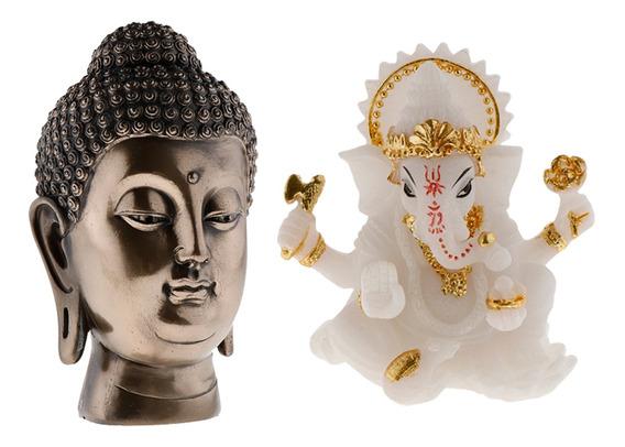 Juego De Piezas Principales De 2 Piezas De Resina Buddha Zen
