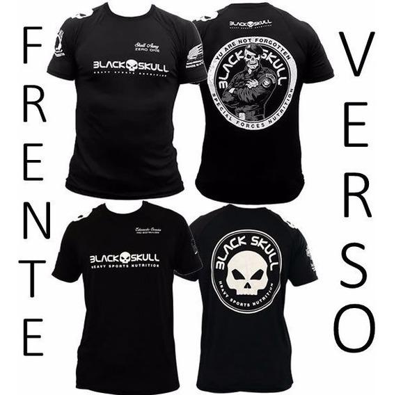 Kit Camiseta Bope Dry Fit + Algodão Eduardo C. - Black Skull