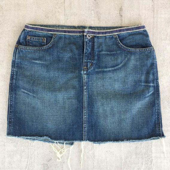 Mini Saia Jeans Desfiada Destroyed Zoomp