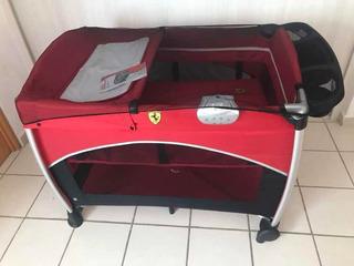 Cuna Y Corral Ferrari Con Todos Sus Accesorios Completos