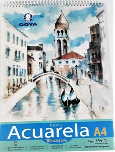 Block Para  Acuarela A4 300grs 10 Hojas