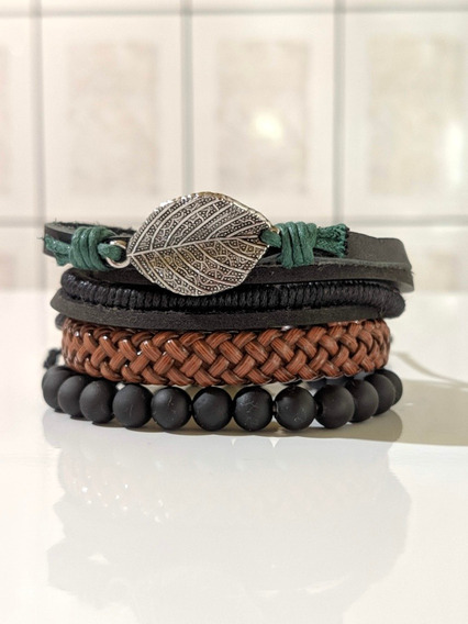 Kit 8 Pulseiras De Couro - Fashion Jewelry