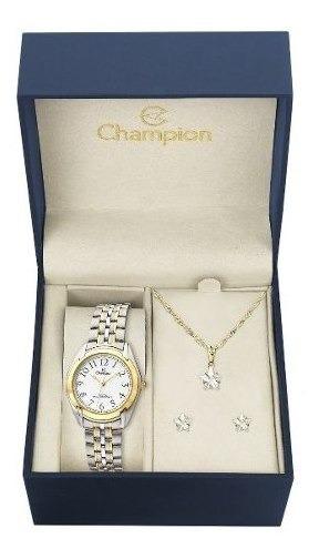 Relógio Feminino Champion Ch22019e + Brinde