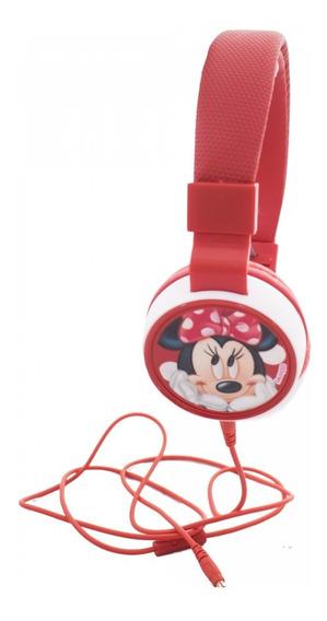 Fone De Ouvido Supra Auricular Da Minnie Disney Cabo 1,20mt