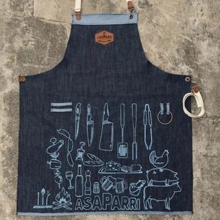 Delantal Jean Asaparri Asador Parrilla Cocina Ideal Regalo