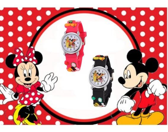 Relógio Infantil Menino/menina Mickey E Minnie