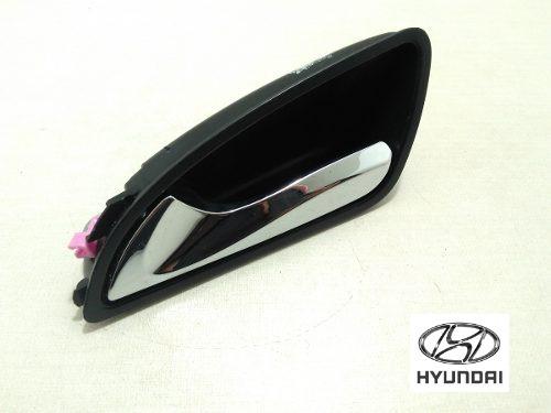 Maçaneta Interna Esquerda Hyundai Cromada Hb20 Hb20s Orig
