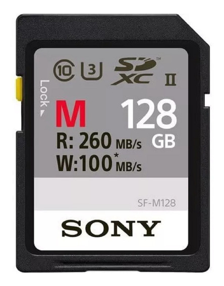 Cartão Sdxc 128gb Original Sony Uhs-ii U3 260mb/s Sony Alpha